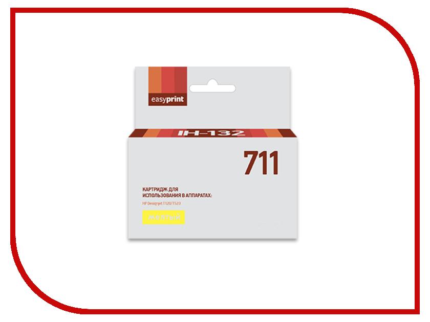Картридж EasyPrint IH-132 №711 Yellow для HP Designjet T120/520 картридж easyprint lh 80a для hp laserjet pro 400 m401a 400 m401d 400 m401dn 400 m401dw 400 mfp m425dn 400 mfp m425dw