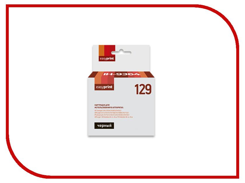 Картридж EasyPrint IH-9364 №129 Black для HP Deskjet 5943/6943/6983/D4163/Officejet 100/150/6313/H470/K7103/Photosmart 1000/1100/1115/1215/1218/1315/2573/C4183/C5283/D5063/D5163 картридж с чернилами top color photosmart c5283 140 141 hp photosmart c5283 tc143 141xl 140xl