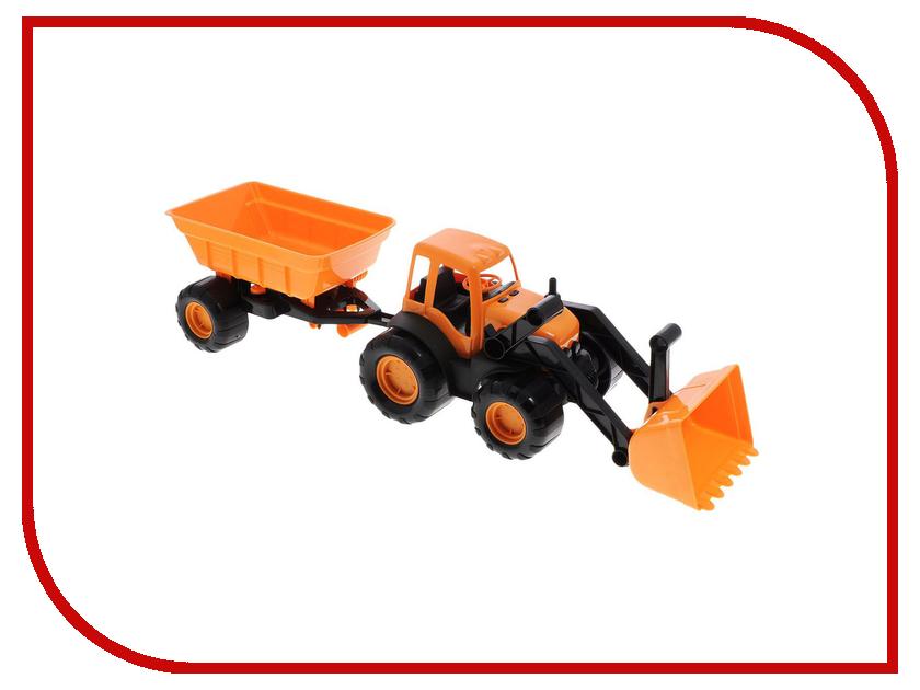 Игрушка Zebratoys Трактор с ковшом и прицепом 15-10173 трактор с ковшом пламенный мотор зелёный от 6 лет пластик 87575