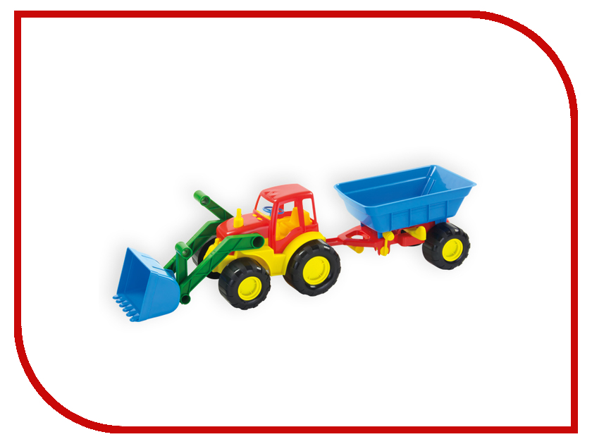 Игрушка Zebratoys Трактор с ковшом и прицепом Active 15-5212 машина zebratoys трактор c каской и лопатой 15 10593