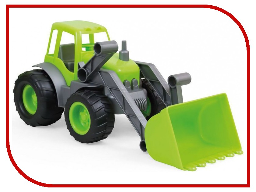 Машина Zebratoys Трактор с ковшом 15-10176 игрушка zebratoys лопата для снега 15 10194