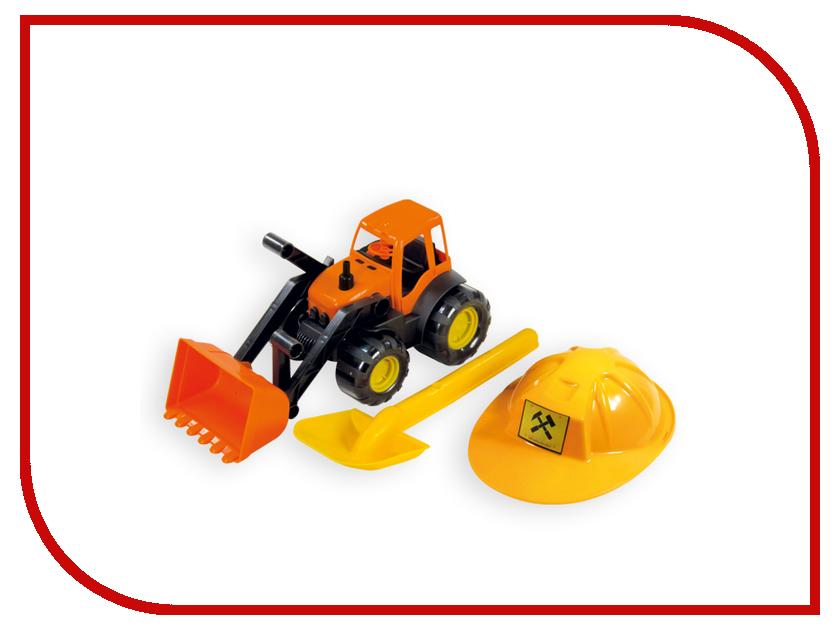 Игрушка Zebratoys Трактор c каской и лопатой 15-10593 машина zebratoys трактор c каской и лопатой 15 10593