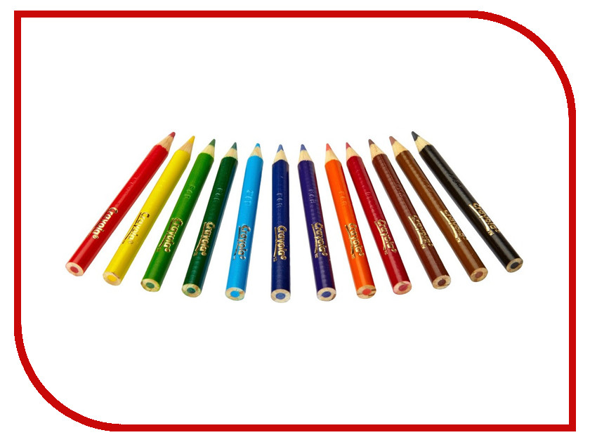 Карандаши цветные Crayola 12 цветов 4112 блестящие фломастеры crayola 5 цветов 58 8645