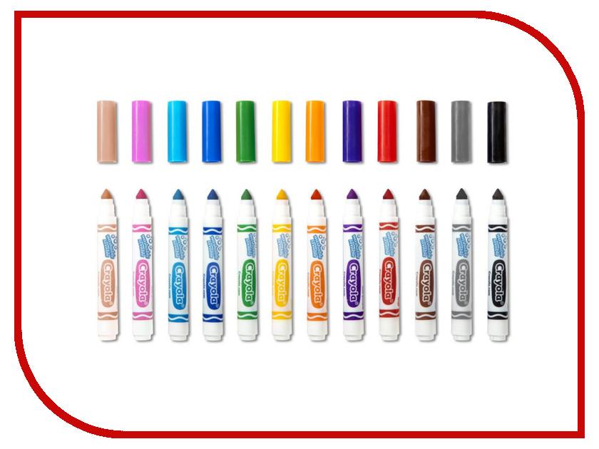 Фломастеры Crayola 12 цветов 58-8329 набор фломастеров crayola смываемых супер чисто 12 шт 58 8329
