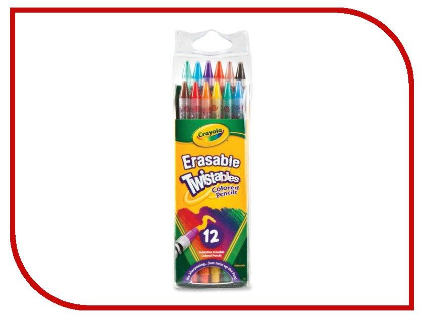 Выкручивающиеся карандаши Crayola 12шт 68-7508