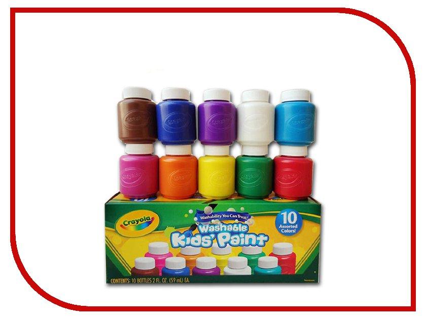Акварель в баночках Crayola 10 цветов 54-1205 crayola llc crayola oil pastels 28 color set set of 12