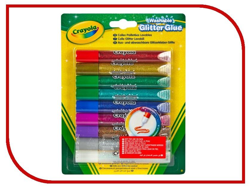 Набор Crayola Клей с блестками 9 цветов 69-3527 гель клей с блестками kids series 5 цветов 190722
