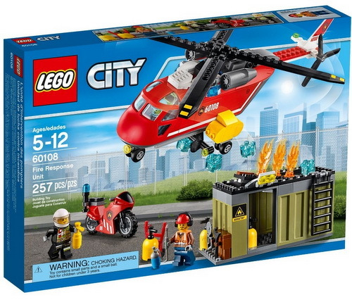Конструктор Lego City Пожарная команда быстрого реагирования 60108 конструктор lego technic служба быстрого реагирования 42075