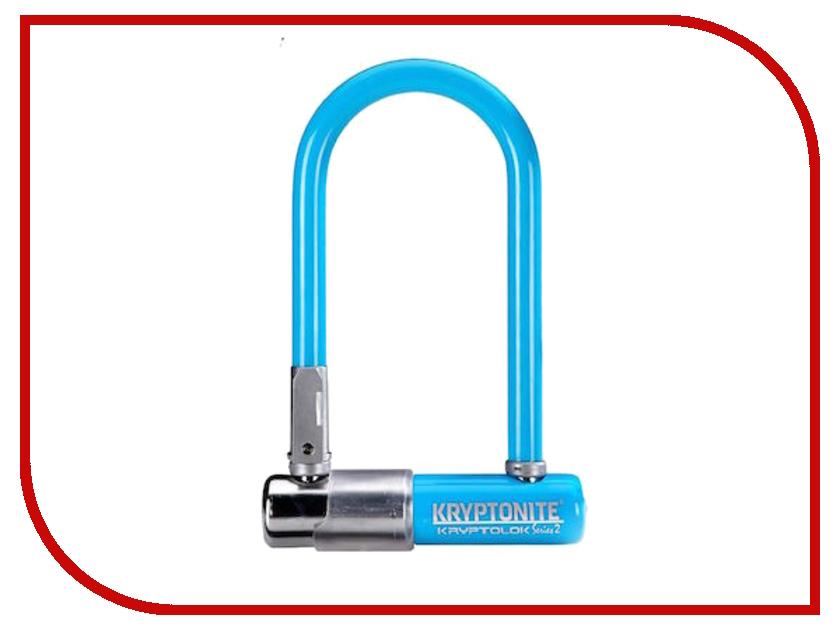 Замок Kryptonite U-Locks KryptoLok Series 2 Mini-7 w/ FlexFrame-U bracket Light Blue