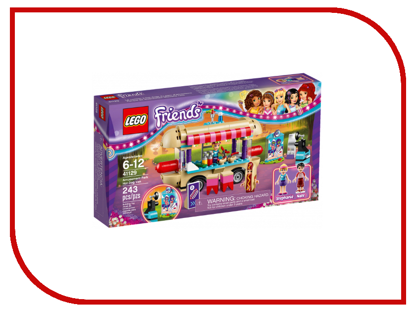 Конструктор Lego Friends Киоск с хот-догами в парке развлечений 41129 figures houses girl friends stephanie mia olivia andrea emma andrea blocks learning toy gift compatible with with friends gift