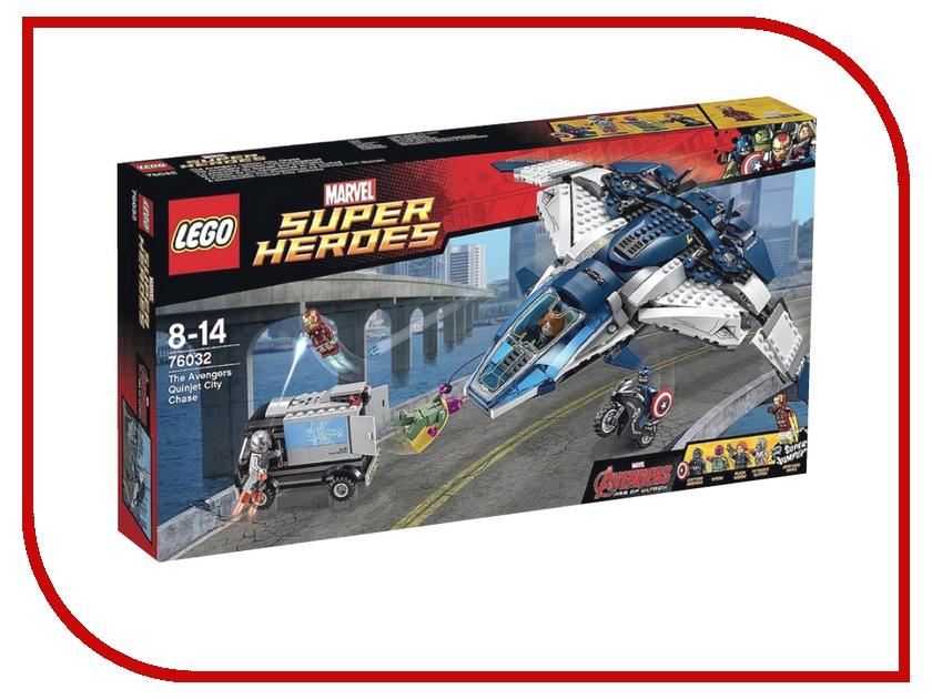 Конструктор Lego Marvel Super Heroes Городская погоня на Квинджете Мстителе 76032 super heroes batman decool blocks set mr freeze aquaman compatible with lego marvel models building toys