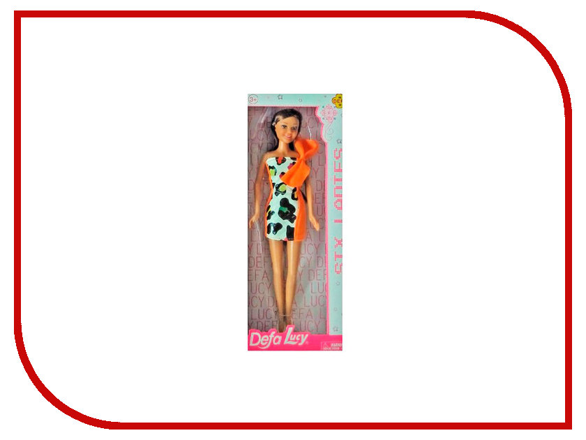 Кукла Defa Lucy Модная с бантом Orange 8316OR кукла defa lucy с коляской и собачкой 8205