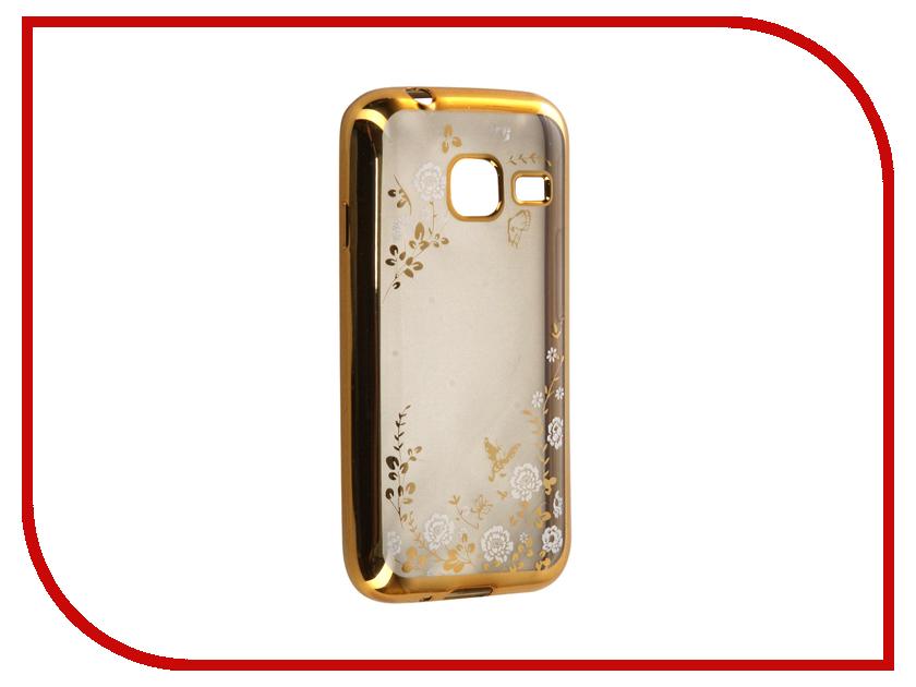 Аксессуар Чехол Samsung Galaxy J1 mini (2016) SkinBox Silicone Chrome Border Color Style 1 4People White T-S-SGJ12016M-009<br>