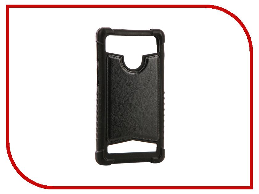Аксессуар Чехол SkinBox Universal 5-5.2-inch Black T-S-BU5-5.2 аксессуар чехол книжка norton 5 5 6 inch универсальный на клейкой основе с выдвижным механизмом black