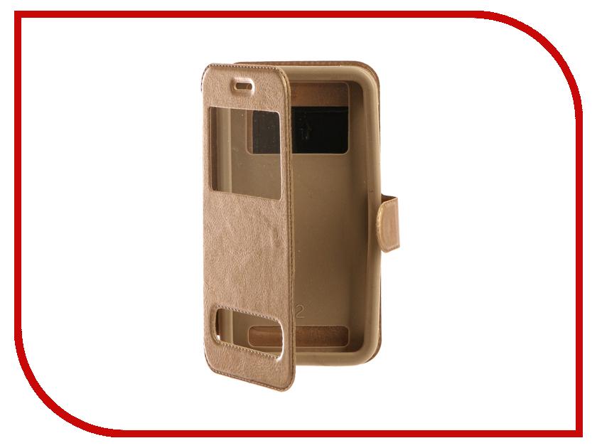 Аксессуар Чехол SkinBox Silicone Slide 5.0 Gold T-S-U5.0-003
