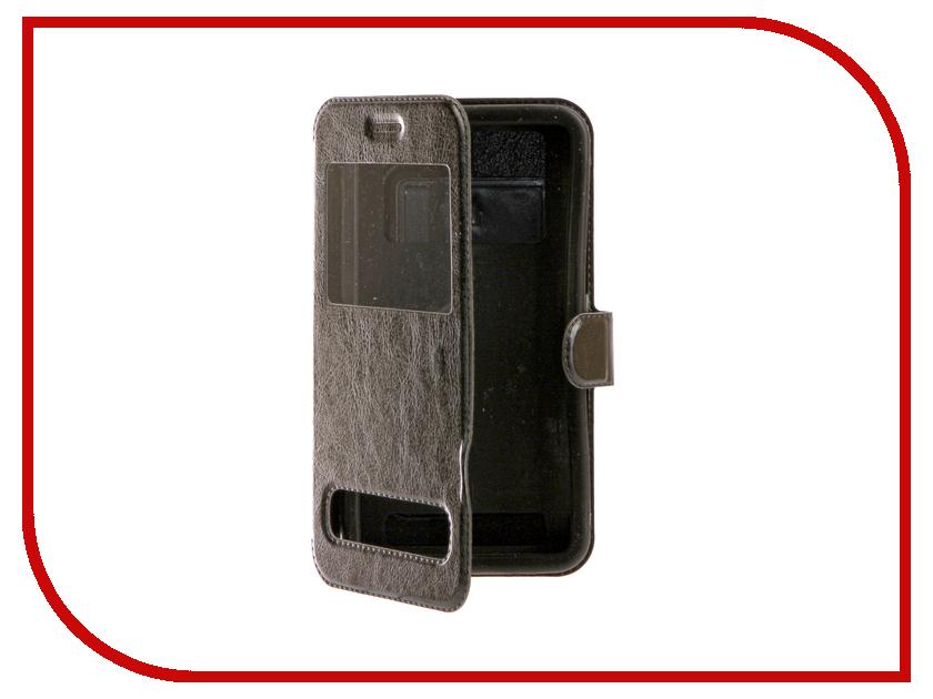 Аксессуар Чехол SkinBox Silicone Slide 5.5 Black T-S-U5.5-003