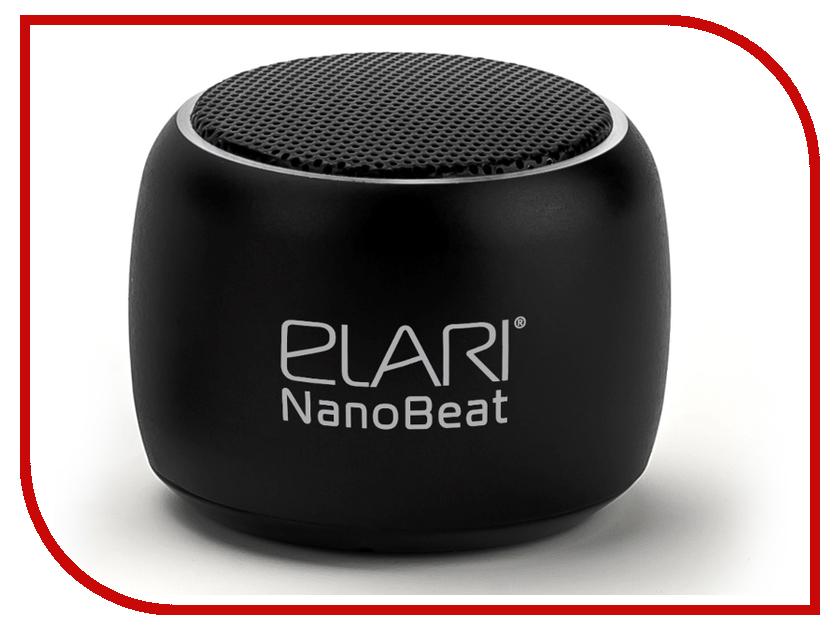 Колонка Elari NanoBeat Black аксессуар чехол elari для elari cardphone и iphone 6 plus blue