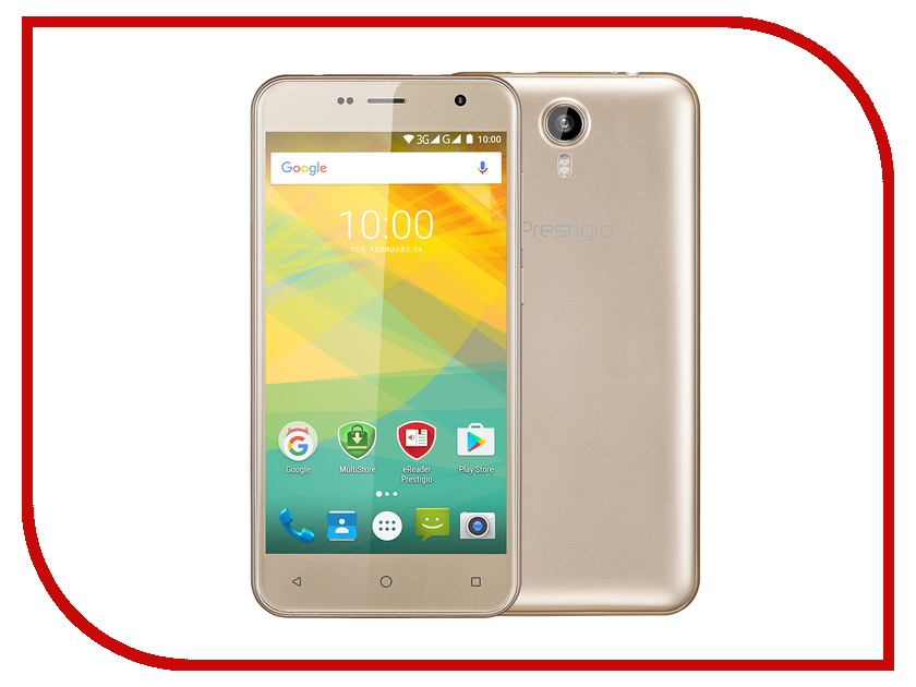 Сотовый телефон Prestigio Muze B3 Gold PSP3512DUO сотовый телефон prestigio grace p5 gold psp5515duogold