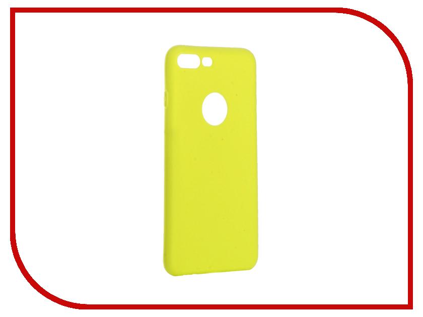 Аксессуар Чехол Krutoff Silicone для iPhone 7 Plus Yellow 11837