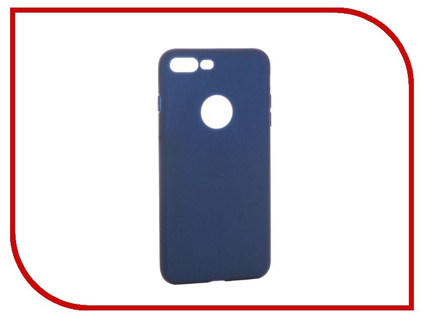 Аксессуар Чехол Krutoff Silicone для iPhone 7 Plus Dark Blue 11836