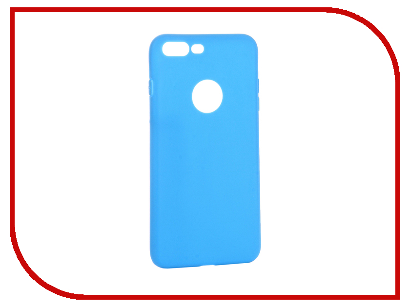 Аксессуар Чехол Krutoff Silicone для iPhone 7 Plus Light Blue 11835 аксессуар чехол rock touch series silicone для iphone 7 plus rpc1153 light blue