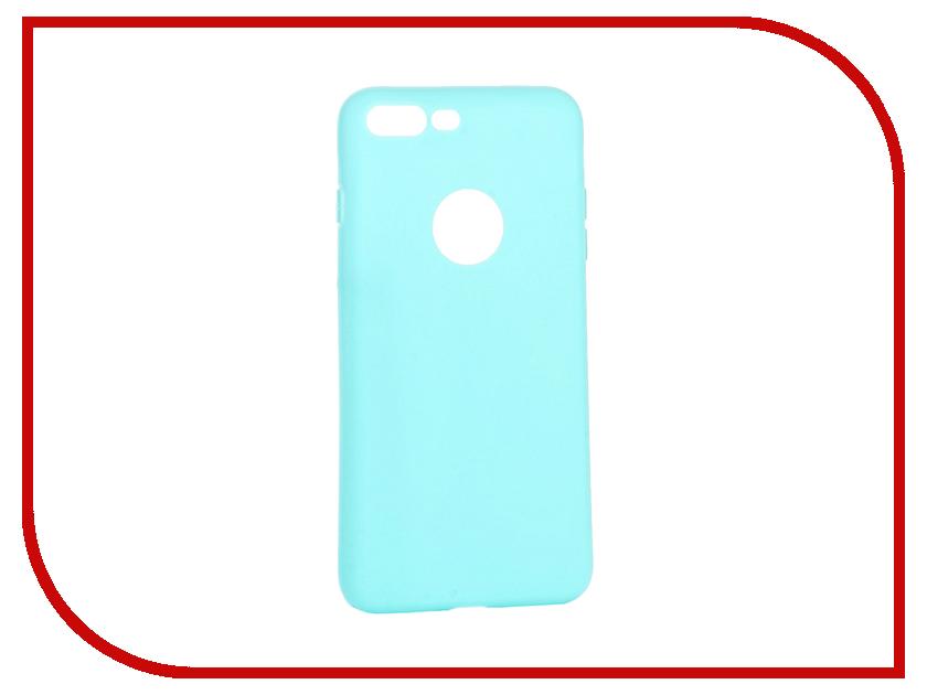 Аксессуар Чехол Krutoff Silicone для iPhone 7 Plus Green 11834 аксессуар чехол krutoff silicone для iphone 7 plus white 11830