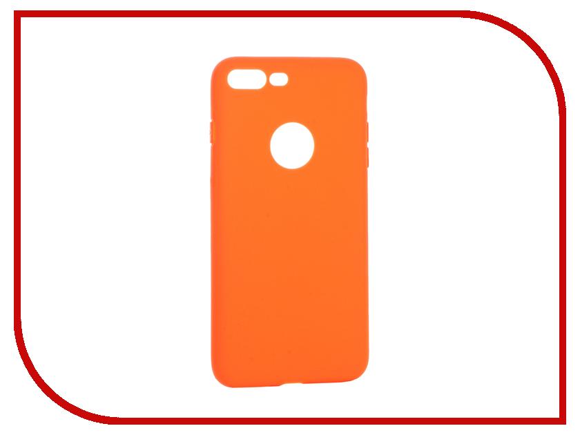 Аксессуар Чехол Krutoff Silicone для iPhone 7 Plus Orange 11833 аксессуар чехол krutoff silicone для iphone 7 plus white 11830