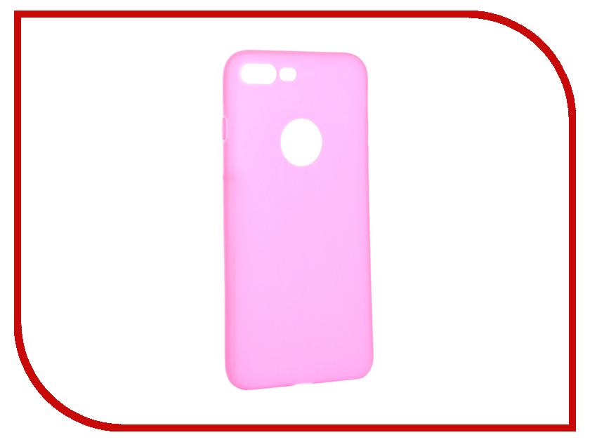 Аксессуар Чехол Krutoff Silicone для iPhone 7 Plus Pink 11832 аксессуар чехол krutoff silicone для iphone 7 plus white 11830