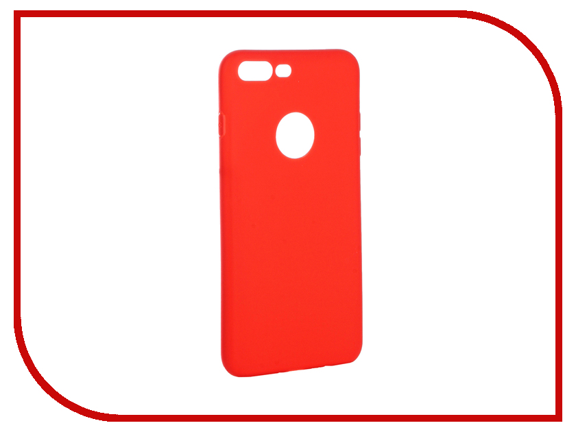 Аксессуар Чехол Krutoff Silicone для iPhone 7 Plus Red 11831 аксессуар krutoff lightning u2 120i strong 1 2m red 14730