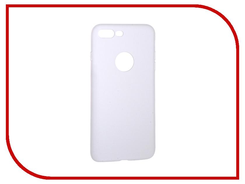 Аксессуар Чехол Krutoff Silicone для iPhone 7 Plus White 11830