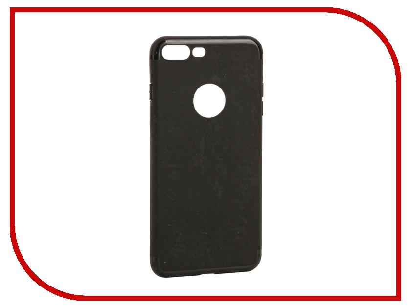 Аксессуар Чехол Krutoff Silicone для iPhone 7 Plus Black 11829 skinbox microsoft lumia 640xl skinbox shield 4people