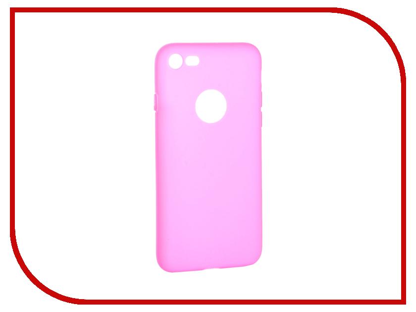 Аксессуар Чехол Krutoff Silicone для iPhone 7 Pink 11823