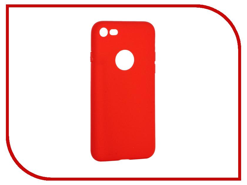 Аксессуар Чехол Krutoff Silicone для iPhone 7 Red 11822