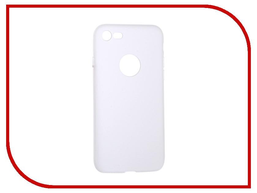 Аксессуар Чехол Krutoff Silicone для iPhone 7 White 11821 аксессуар чехол krutoff silicone для iphone 7 plus white 11830