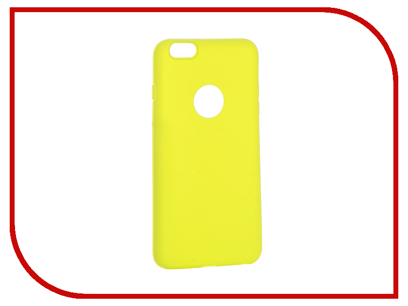 Аксессуар Чехол Krutoff Silicone для iPhone 6 Plus Yellow 11819 аксессуар чехол krutoff silicone для iphone 7 plus white 11830