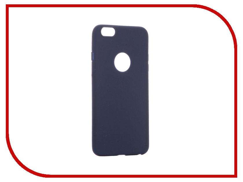 Аксессуар Чехол Krutoff Silicone для iPhone 6 Plus Dark Blue 11818 аксессуар чехол elari для elari cardphone и iphone 6 plus blue