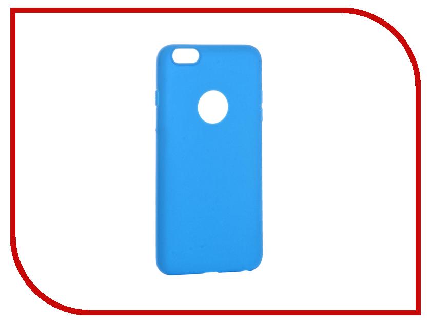 Аксессуар Чехол Krutoff Silicone для iPhone 6 Plus Light Blue 11817 аксессуар чехол krutoff silicone для iphone 7 plus white 11830