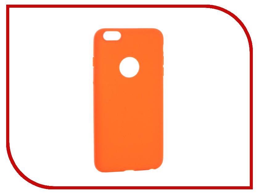 Аксессуар Чехол Krutoff Silicone для iPhone 6 Plus Orange 11815 аксессуар чехол krutoff silicone для iphone 7 plus white 11830