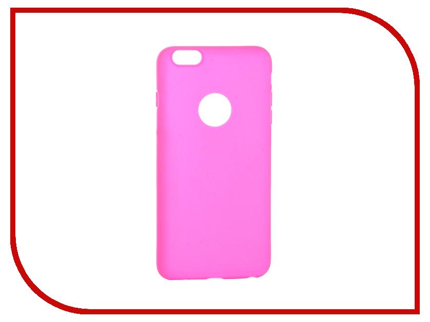 Аксессуар Чехол Krutoff Silicone для iPhone 6 Plus Pink 11814 аксессуар чехол krutoff silicone для iphone 7 plus white 11830