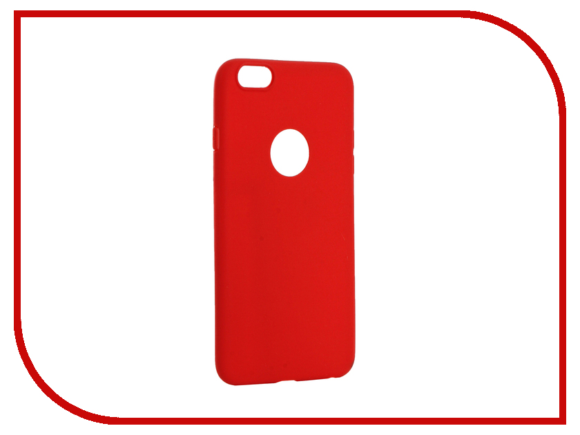 Аксессуар Чехол Krutoff Silicone для iPhone 6 Plus Red 11813 аксессуар krutoff lightning u2 120i strong 1 2m red 14730