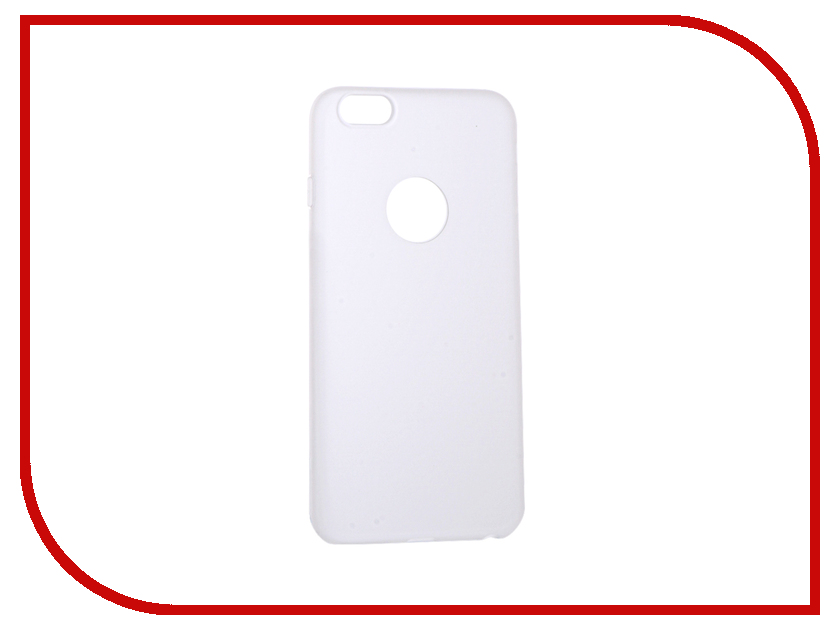 Аксессуар Чехол Krutoff Silicone для iPhone 6 Plus White 11812 аксессуар чехол krutoff silicone для iphone 7 plus white 11830