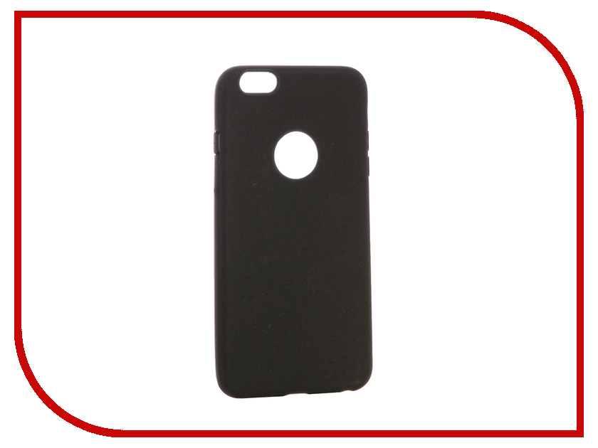Аксессуар Чехол Krutoff Silicone для iPhone 6 Plus Black 11811