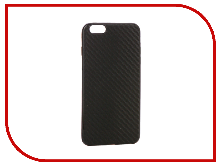 Аксессуар Чехол для APPLE iPhone 6 Plus Krutoff Silicone Carbon Black 11841 аксессуар чехол krutoff leather case для iphone 6 6s black 10750