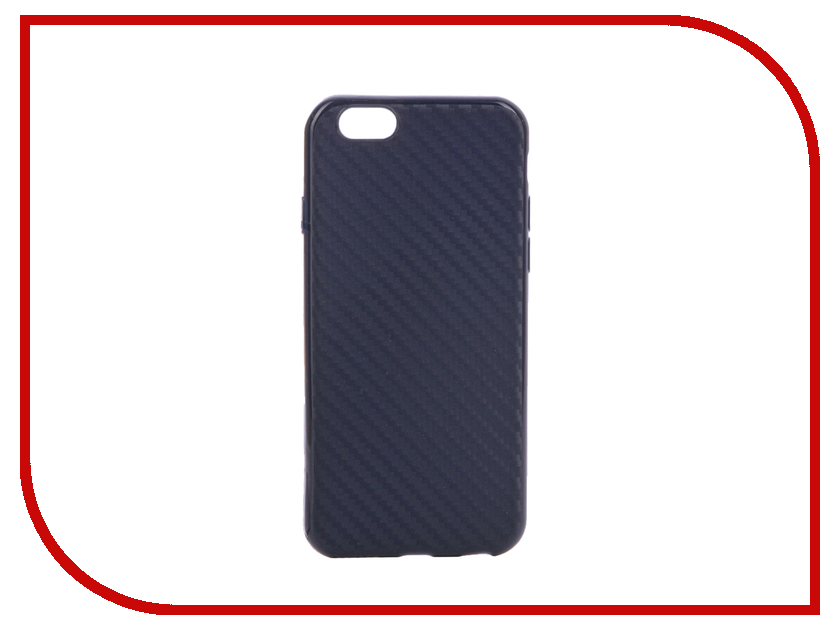 Аксессуар Чехол Krutoff Silicone Carbon для iPhone 6/6S Blue 11839