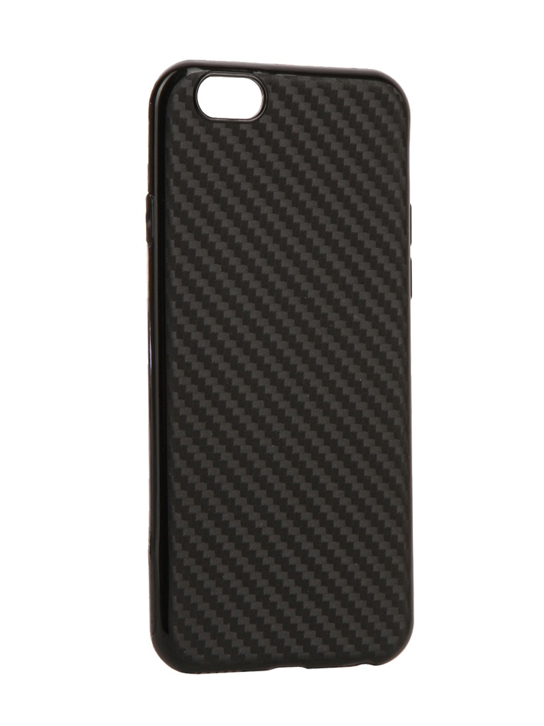 Аксессуар Чехол Krutoff для APPLE iPhone 6 / 6S Silicone Carbon Black 11838