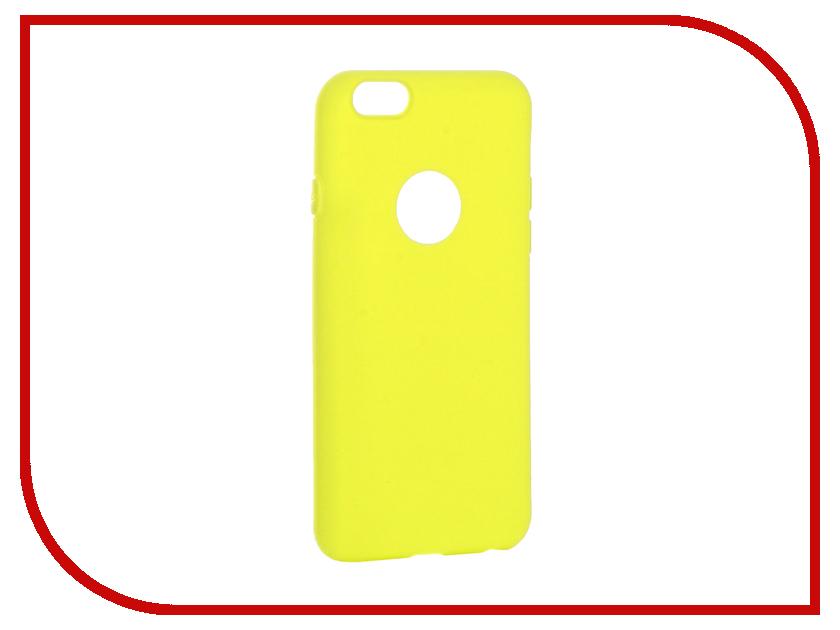 Аксессуар Чехол Krutoff Silicone для iPhone 6/6S Yellow 11810 комплект topman topman to030fmbfme4