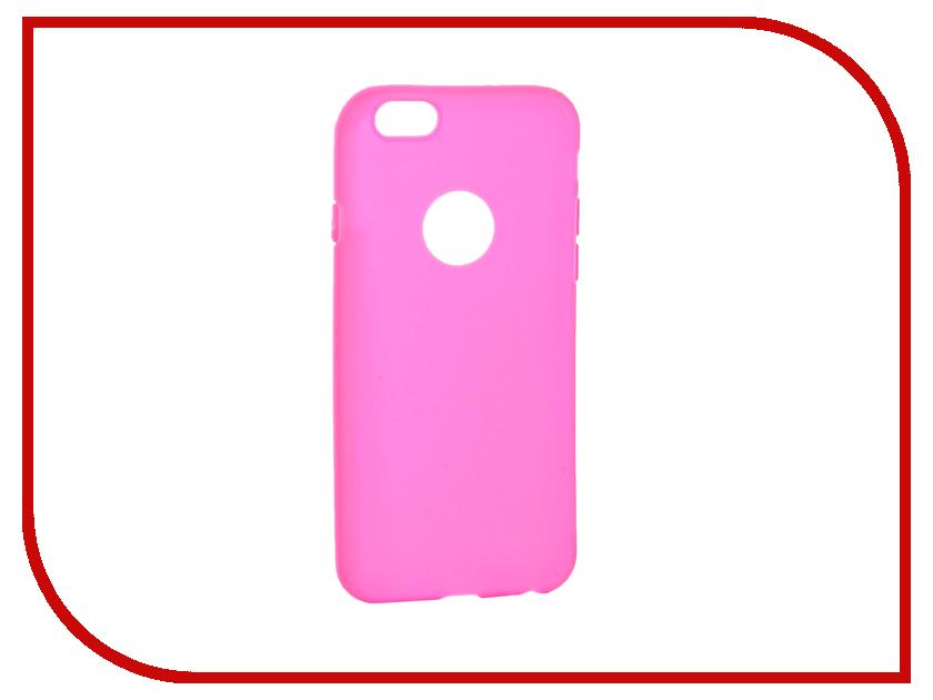 Аксессуар Чехол Krutoff Silicone для iPhone 6/6S Pink 11805