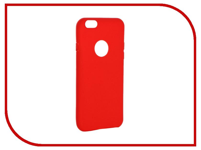 Аксессуар Чехол Krutoff Silicone для iPhone 6/6S Red 11804 аксессуар krutoff lightning u2 120i strong 1 2m red 14730