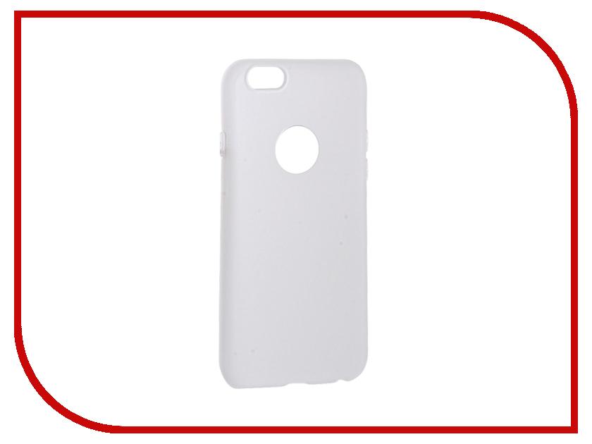 Аксессуар Чехол Krutoff Silicone для iPhone 6/6S White 11803 аксессуар чехол krutoff silicone для iphone 7 plus white 11830