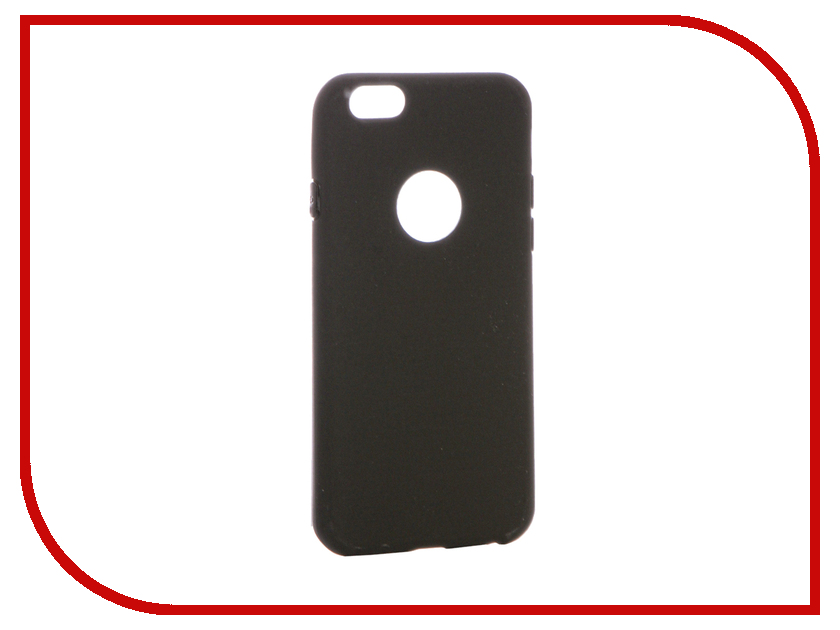 Аксессуар Чехол для APPLE iPhone 6 / 6S Krutoff Silicone Black 11802 фотонабор olloclip studio для apple iphone 6 6s plus black oc 0000169 eu
